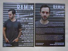 "RAMIN KARIMLOO Live in Concert ""Lead me Home"" 2017 UK Tour Promo tour flyers x 2"