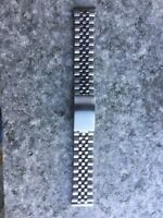 Steel Strap Jubilee 18 mm Vintage Chronograph Omega Longines Seiko Zenith