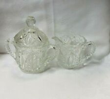 Vintage Crystal Sugar And Creamer Set