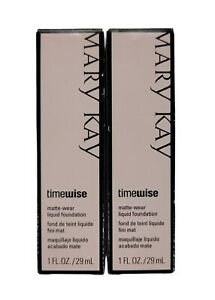Lot of 2 New In Box Mary Kay TimeWise Matte-Wear Liquid Foundation Beige 2