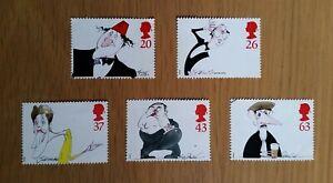 Complete GB used stamp set: 1998 Comedians
