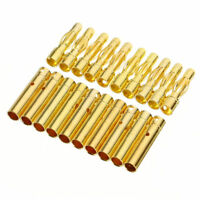 20x 4mm Gold Plated Bullet Banana Plug Connector For RC Battery 1.9cm & 2.3cm