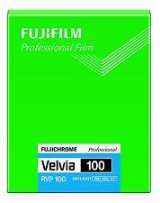 FUJI FUJIFILM VELVIA 100 4x5 20 Sheet Film ISO100 Made in Japan Fresh