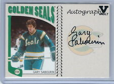 2015-2016 ITG Final Vault 04-05 NHL Franchise Gary Sabourin Autographed Card