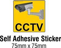 CCTV Security Surveillance Camera Decal Sticker Sign 75x75mm