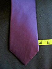 Nicole Miller Solid Purple Tie