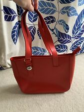 "Furla Red Leather Shoulder Bag 11""x9""x3.25"""