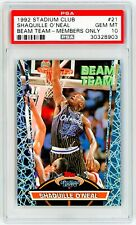 SHAQUILLE O'NEAL ROOKIE 1992 Topps Stadium BEAM TEAM MEMBERS ONLY #21 PSA 10 RC
