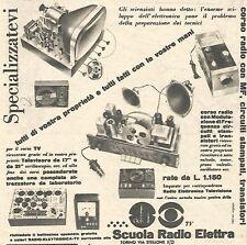 W1923 Scuola Radio Elettra - Specializzatevi - Pubblicità del 1958 - Vintage ad