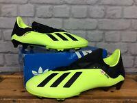 ADIDAS MENS UK 12 EU 47 1/3 X 18.3 FG FOOTBALL BOOTS FLUO YELLOW BLACK J