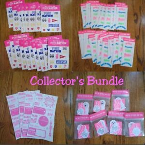 Victoria's Secret Pink Nation Collectibles Stickers Holiday Gift Supplies NEW