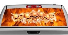 Truck Rear Window Decal Graphic [String of Skulls] 20x65in DC46102