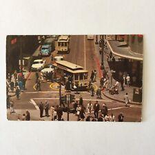 Powell And Market Streets San Francisco Postmark 1956 Louise Beau Postcard
