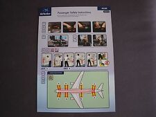 Air Tanker Airbus A330 Passenger Safety Instruction Card  Issue 02  002B27042017