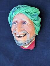 1963 Bossons England  Kurd Chalkware head Sculpture Wall plaque retired