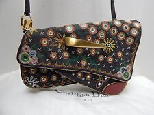 Christian Dior Limited Ed Trailer License Plate Embroidered Crossbody Bag France
