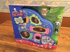 2006 Littlest Pet Shop Playhouse Case Dog 46 Pug Tan Cat 456 Boston 63 Panda