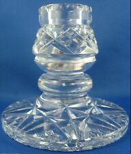 Vintage HEAVY THICK CRYSTAL Dinner Candle Holder VG Collectable - In Australia