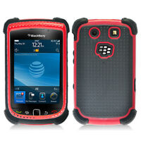 Black With Red Hybrid Hard Case Cover for Blackberry Torch 9800 9810
