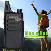 USA Stock Zastone ZT-X6 Mini Portable Radio UHF 16 Channels Ham Walkie Talkie X6