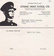 Citizen's Night Patrol Ltd , VANCOUVER , B.C. , Canada , April 29, 1941