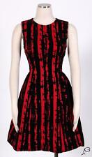 Calvin Klein Red/Black Sz 14 Women's Cocktail Velvet Tea Dress $169 New