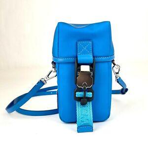 MCM Blue Nylon Mini Flap Pouch Shoulder Waist Bag MXZ9SNX43HI001