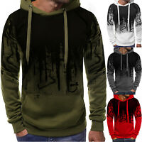 Men Long Sleeve Hoodie Sweatshirt Pullover Hooded Jumper Sweater Coat Jacket Top