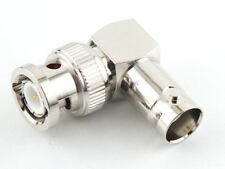 BNC Male to BNC Female 90 Degree Connector - USA Coax Parts