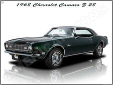 1968 Chevrolet Camaro Z/28 New Metal Sign: Fully Restored