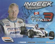 2007 Paul Tracy signed Indeck Forsythe Racing Ford Panoz DP01 Champ Car postcard