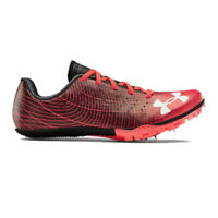 Under Armour Mens Kick Sprint 3 Running Spikes Traction Black Red Sports