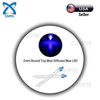 100Pcs 2mm Dip Bright Blue 2pin Bulb Light Lamp LED Diodes Diffused Round Top