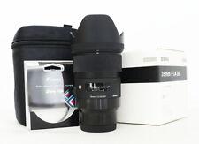 # Sigma 35mm f/1.4 DG HSM Art Lens for Sony FE Mount S/N 9894