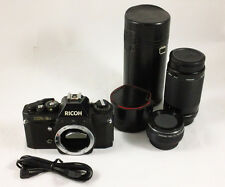 Ricoh XR-2 Film Camera Bundle Rikenon XR 1:4 200mm Lens & Auto 2X Tele-Converter