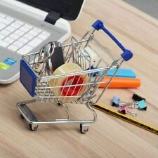 Childrens Mini Metal Shopping Trolley Novelty Storage Pretend Role Play Kids Toy