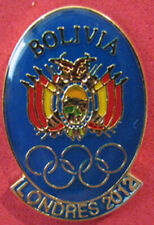 2012 LONDON Olympic BOLIVIA  NOC  Team - delegation Limited & Scarce dated pin
