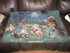 Boyds Bear Aewesome Nativity Woven Tapestry Beautiful Colors Gorgeous Xlnt