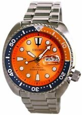 Seiko SRPC95K1 Prospex Turtle Nemo Limited Special Edition Stainless Steel Automatic Diver Men's Watch - Silver/Orange
