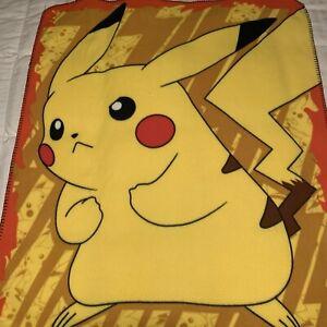 "Pokeman Pikachu Blanket Throw Northwest 40x47"" 2017"