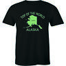 Top Of The World Alaska Shirt Funny State Anchorage Frontier Men's T-shirt Tee