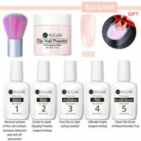 8Pcs/kit UR SUGAR Nail Art Dipping Powder Gradient French Nail Pigment Fast Dry