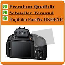 2x FujiFilm FinePix HS50EXR TESTSIE SCHUTZFOLIE Displayschutz Displayschutzfolie