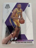 2019-2020 Panini Mosaic Talen Horton-Tucker Base RC #215 Lakers Rookie 🔥