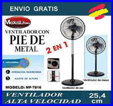 VENTILADOR 2 en 1 Maxell Power Metal 25.4 cm Alta velocidad Pie +Sobremesa 3 vel