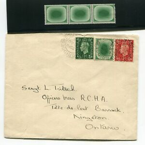 Great Britain UK 1938 Egg Label Dummy Stamp on Cover & Strip 3 MNH Mint