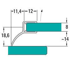Duschdichtungen, Duschabtrennung Dichtprofile  2500mm