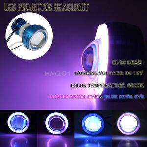 LED Projector Headlight Devil Angel Eye for Kawasaki Ninja ZX10 ZX10R ZX11 ZX12R