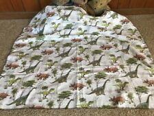Handmade baby blanket,flannel,dinosaurs ,brown,green,cute,shower gift