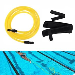 3M Swim Bungee Training Belt Swimming Resistance Safety Leash Exerciser Tether A